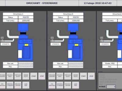System sterowania stacją dmuchaw oczyszczalni komunalnej