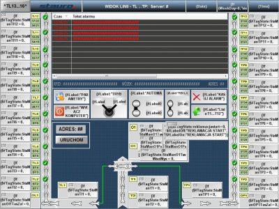 System transportu wewnętrznego z identyfikacją RFID
